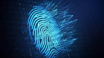 Blue digital fingerprint